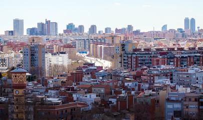 Top view  of Barcelona, Spain