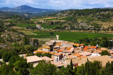 Portel-des-Corbieres  from mount.  France