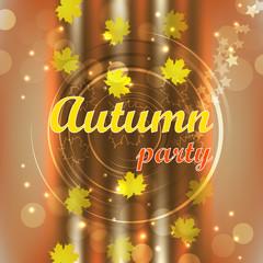Autumn party flyer design, background