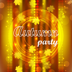 Autumn party flyer design, background
