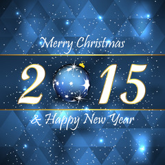 Merry christmas and happy new year background, christmas ball