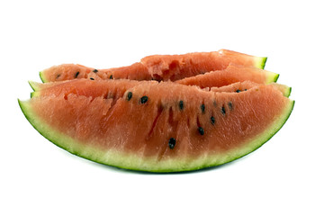 Juicy, red, delicious, sweet, tasty slices of watermelon. Isolat