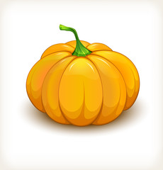 Cheerful beautiful pumpkin