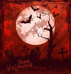 Bloody Halloween cemetery