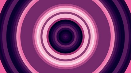 pulsating red and pink circles, abstract loop motion background