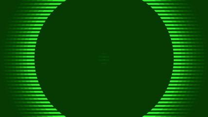 pulsating green circles, abstract loop motion background