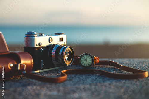 canvas print picture Old vintage camera