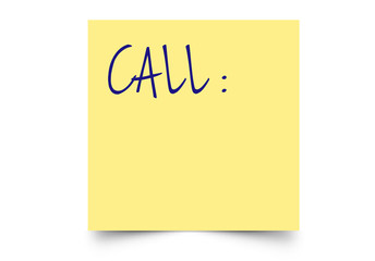 post-it call
