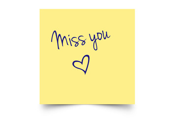 miss you post it