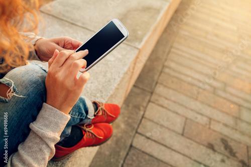 using smart phone - 69498686
