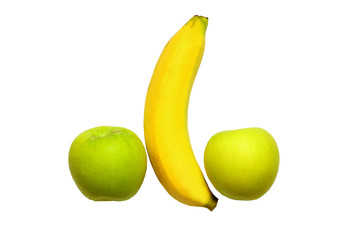 Banana and apples
