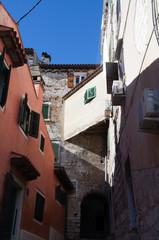 Venitian street in Rovinj, Croatia