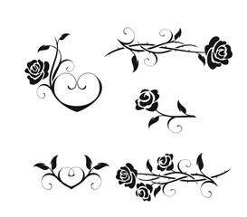 Элементы винтажных роз