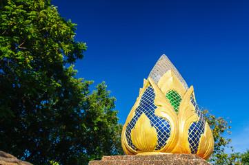 Lotus flower sculpture decoration at Wat Doi Kham