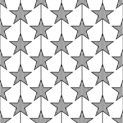 Abstract geometric star seamless pattern.