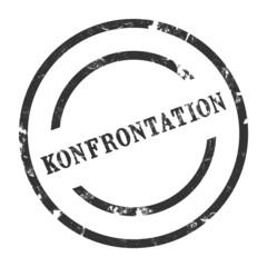sk37 - StempelGrafik Rund - Konfrontation - g1457