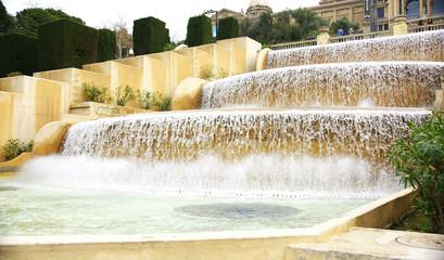 Catarata artificial de la fuente de Montjuic, Barcelona