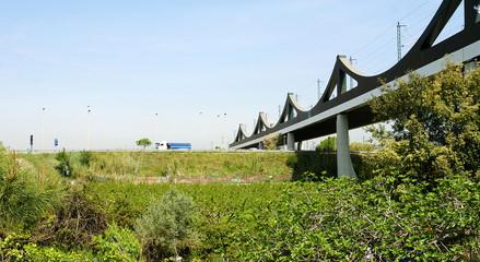 Puente del Ferrocarril en el Delta del Llobregat, Barcelona