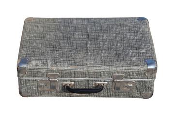 Aged metal suitcase