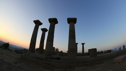 Temple of Athena  Ancient Assos City at Turkey