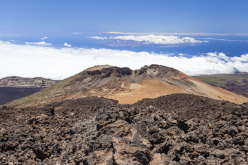 View of volcano on Tenerife. Canary. Spain.