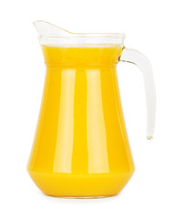 Fresh orange juice in pitcher