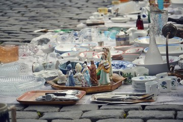 Flea market in Brussels, Belgium