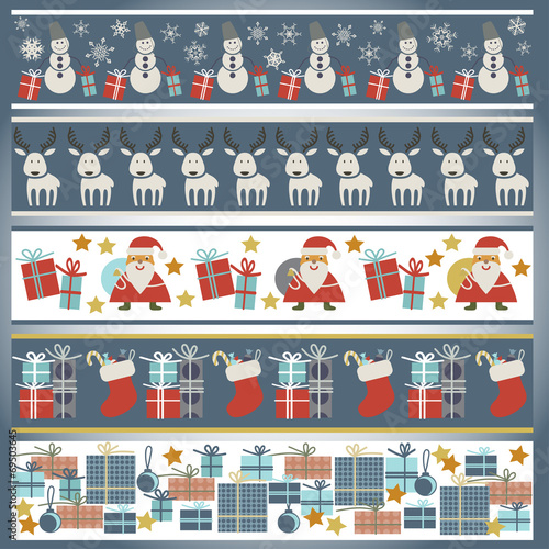 In de dag Kunstmatig Seamless pattern with Christmas accessories