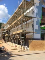 Shopping center construction face lift