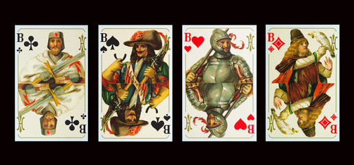 Spielkarten  BUBEN der Kaiserzeit
