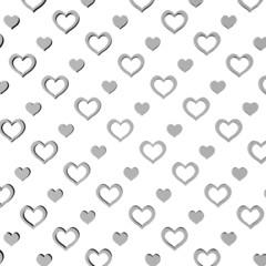 Patroon met witte hartjes