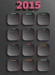 2015 Calendar-Black
