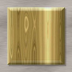 Box shape frame with seamless generated texture background