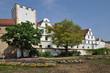 canvas print picture - Blumen am Zeughaus in Amberg