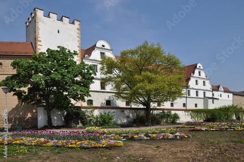 canvas print picture Blumen am Zeughaus in Amberg