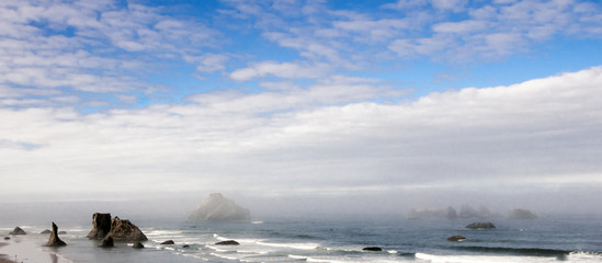 Fog Moving in on Oregon's Coast