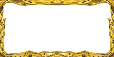 golden abstract blurry smooth border frame