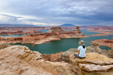 Overlooking Lake Powell