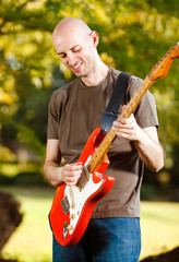 Guitar Player in the park