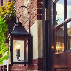 Vintage street lamp in Boston, Massachusetts, USA