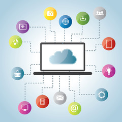 Cloud computing and social medias