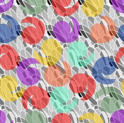Abstract background with pastel splashes