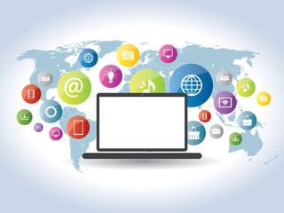 communication of information on websites and social networks
