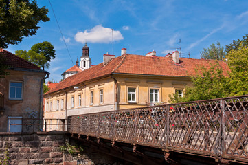 Pedestrian Bridge to Uzupis District in Vilnius