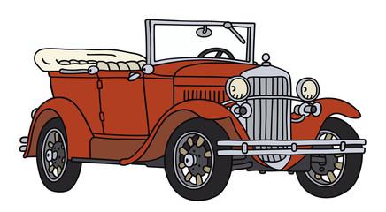 red vintage cabriolet