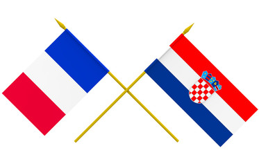 Flags, Croatia and France