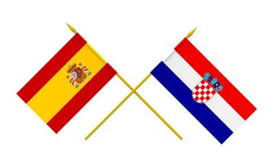 Flags, Croatia and Spain