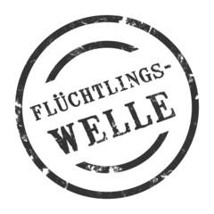 sk51 - StempelGrafik Rund - Flüchtlingswelle - g1471