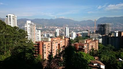Panorámica el poblado Medellín Colombia