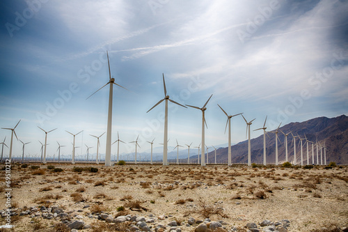 Foto op Canvas Zandwoestijn Palm Springs Wind Farm